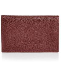 Longchamp - Veau Foulonne Card Case - Lyst