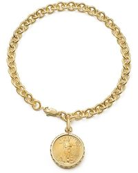 Bloomingdale's - Coin Charm Bracelet In 14k Yellow Gold - Lyst