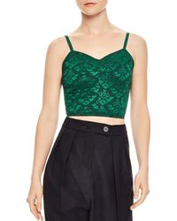 Sandro - Fee Cropped Jacquard Cami - Lyst