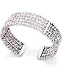 Majorica - Majorca Simulated Pearl Cuff Bracelet - Lyst