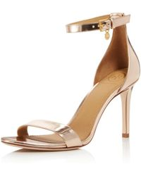 Tory Burch - Women's Ellie Leather High-heel Ankle Strap Sandals - Lyst