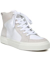 Vince - Women's Kiles Suede & Leather High Top Lace Up Sneakers - Lyst