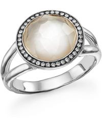 Ippolita - Sterling Silver Stella Ring In Mother-of-pearl With Diamonds - Lyst