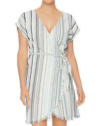 Splendid - Line Of Sight Wrap Dress Swim Cover-up - Lyst