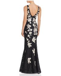 Betsy & Adam - Embroidered-back Lace Gown - Lyst
