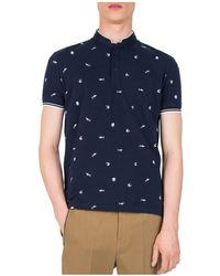 The Kooples - Pique Embroidered Slim Fit Polo - Lyst