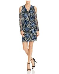 Sam Edelman - Embroidered Cold-shoulder Dress - Lyst