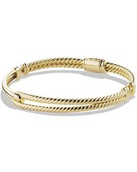 David Yurman - Petite Pavé Labyrinth Single-loop Bracelet In Gold - Lyst