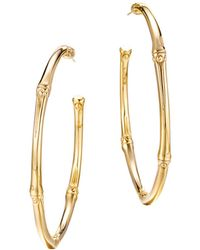 John Hardy - Bamboo 18k Yellow Gold Large Hoop Earrings - Lyst