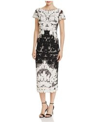 JS Collections - Mixed Lace Midi Dress - Lyst