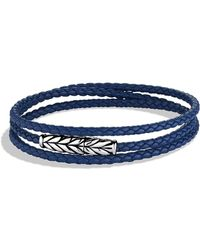 David Yurman - Chevron Triple-wrap Bracelet In Blue - Lyst
