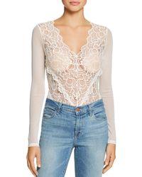 Guess - Sariyah Sheer Lace & Mesh Bodysuit - Lyst