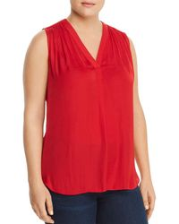 Vince Camuto Signature - Shirred Sleeveless Top - Lyst