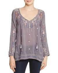 Johnny Was - Santorini Embroidered Blouse - Lyst
