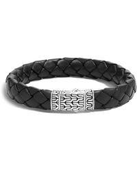 John Hardy - Men's Leather & Sterling Bracelet - Lyst