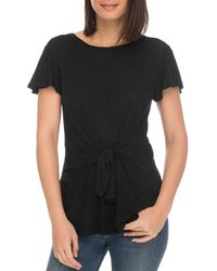 B Collection By Bobeau - Rylee Tie-front Tee - Lyst