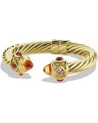 David Yurman - Renaissance Bracelet With Citrine And Iolite In Gold - Lyst