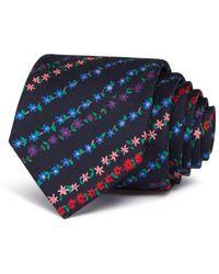 Paul Smith - Mini Floral Stripe Skinny Tie - Lyst