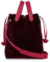 meli melo - Hazel Small Velvet Bucket Bag - Lyst