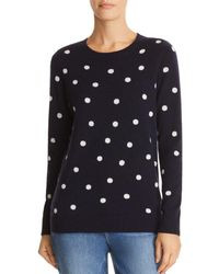 C By Bloomingdale's - Polka Dot Intarsia Cashmere Jumper - Lyst