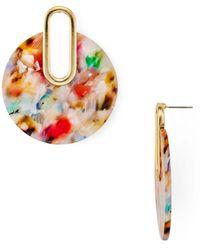 Aqua - Multicolor Marled Drop Earrings - Lyst