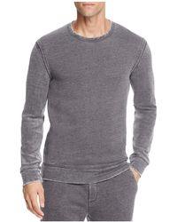 John Varvatos - Crewneck Long Sleeve Sweatshirt - Lyst