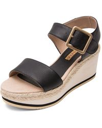 Andre Assous - Women's Carmela Leather Platform Wedge Sandals - Lyst