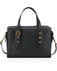 Anne Klein - Collar Pin Leather Satchel - Lyst