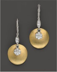 Meira T - 14 Kt. Yellow Gold/diamond Drop Earrings - Lyst