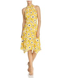 Adrianna Papell - Mock-neck Floral Dress - Lyst