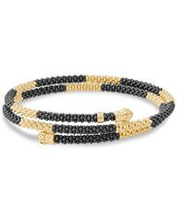 Lagos - Gold & Black Caviar Collection 18k Gold & Ceramic Coil Bracelet - Lyst