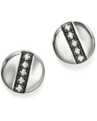 Ippolita - Sterling Silver Glamazon® Stardust Station Stud Earrings With Diamonds - Lyst