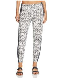 Dolce Vita - Printed Swim Cover-up Trousers - Lyst