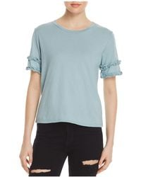 Michelle By Comune - Rochelle Ruffle-sleeve Tee - Lyst