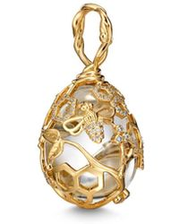 Temple St. Clair - 18k Yellow Gold Beehive Rock Crystal & Diamond Amulet - Lyst