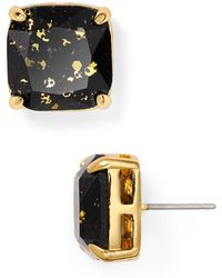Kate Spade - Small Square Glitter Stud Earrings - Lyst