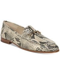 Sam Edelman - 'loraine' Horsebit Snake Embossed Leather Loafers - Lyst