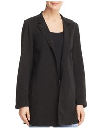 Eileen Fisher - Snap-front Long Jacket - Lyst