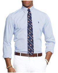 Polo Ralph Lauren - Hairline-striped Poplin Button-down Shirt - Classic Fit - Lyst