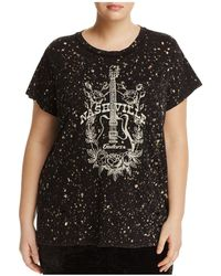 Lucky Brand - Distressed Paint Splatter Graphic Tee - Lyst