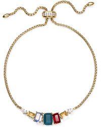 Nadri - Verdana Multicolour Stone Slider Bracelet - Lyst