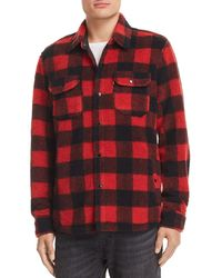 Levi's - Plaid Fleece Shirt Jacket - Lyst