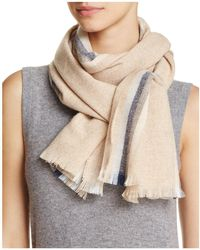 C By Bloomingdale's - Lightweight Vertical Stripe Cashmere Scarf - Lyst
