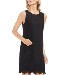 Vince Camuto - Scalloped Eyelet Shift Dress - Lyst