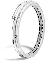 John Hardy - Bamboo Sterling Silver Small Double Coil Bracelet - Lyst