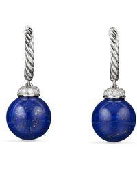 David Yurman - Solari Drop Earrings With Diamonds And Lapis Lazuli - Lyst