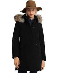 Woolrich - Modern Vail Fur Trim Coat - Lyst