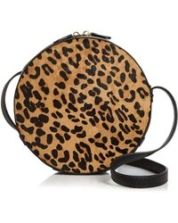 Aqua - Medium Leopard-print Calf Hair Crossbody - Lyst