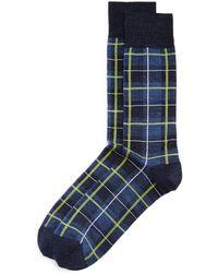 22c84607bbe Bloomingdale s - Block Plaid Socks - Lyst