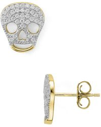 Aqua - Skull Stud Earrings - Lyst